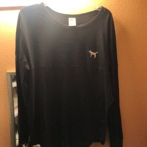 Black with silver sequins top from pink